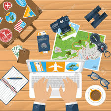 travel planning images Travel planning trip plan vector man with laptop planning jpg