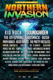 lineup announced for northern invasion 2017 soundgarden kid rock