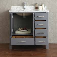 buy vincent 36 inch solid wood single bathroom vanity in charcoal