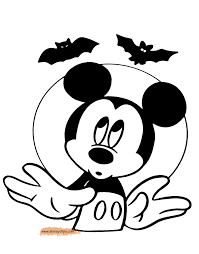 Halloween Bats To Color by Disney Halloween Coloring Pages 3 Disney U0027s World Of Wonders