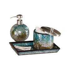 5 Piece Bathroom Set by Bathroom Accessories Sets With Mosaic 3 Piece Bathroom Accessory