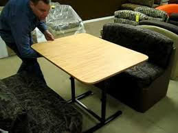 collapsible folding rv motorhome coffee table new rv table mechanism available at factoryrvsurplus com youtube
