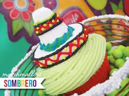 diy tutorial marshmallow sombrero u0026 serape cupcake toppers