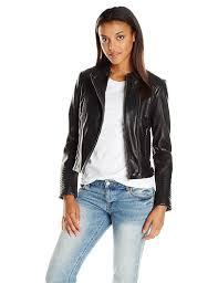 amazon com lucky brand women u0027s biker jacket lucky black large