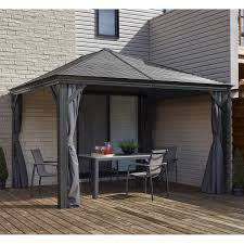 hardtop patio gazebo gazebos u0026 sun shelters costco