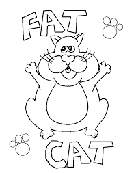fat cat free coloring pages for kids printable colouring sheets