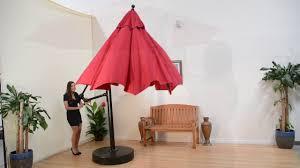 Large Cantilever Patio Umbrella Galtech Quality Large Cantilever Patio Umbrella Video 10 And 11
