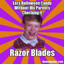Halloween Candy Meme - eats halloween candy without his parents checking it create your