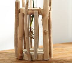 home decor european style unique wood vase 100 handmade