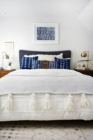 White And Blue Modern Bedroom