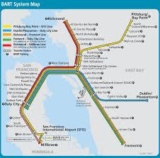 San Francisco Bay Map by San Francisco Bay Area Metro Map Bart Great Way To Get From