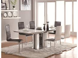 coaster table and chairs coaster broderick contemporary 7 piece white dining table set with