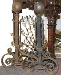 hand forged cannonball andirons for sale antiques com classifieds