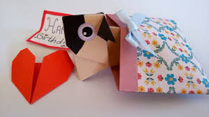 funny pop up origami pug girlfriend birthday card be my