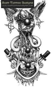 jack in the box clown tattoo drawing pictures to pin on pinterest