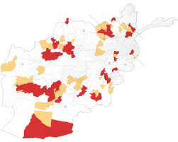Kabul Map More Than 14 Years After U S Invasion The Taliban Control Large