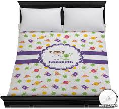 themed duvet cover space themed duvet cover personalized youcustomizeit