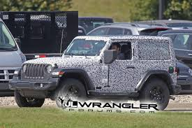 lowered jeep liberty spied wrangler 2 door jl rubicon soft top and export jl sport