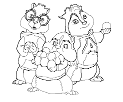 alvin chipmunks coloring pages