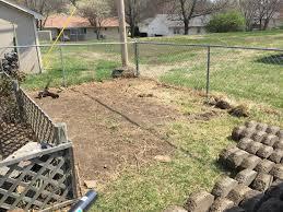 ground work has begun to start a new garden