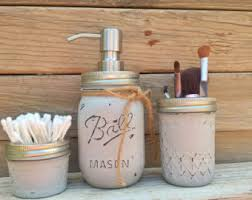 Peach Bathroom Accessories by Mason Jar Planter Box Organizer Bathroom Decor Mason Jar