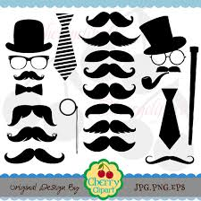 mustache party mustache party digital clipart set personal and commercial use