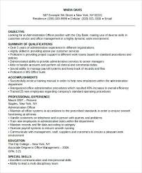 sample resume for administrative officer loan officer resume