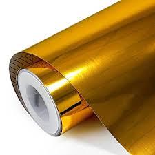 gold foil wrap teckwrap 11 5 x55 chrome mirror gold vinyl wrap car
