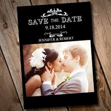 Online Save The Dates Cheap Black And White Save The Date With Photo Online Ewstd043 As