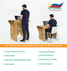 Desk Stand Up by Infographics Stand Up And Traditional Desk Guide To Better