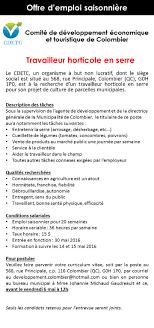 horaire bureau d emploi municipalite de colombier offres d emploi