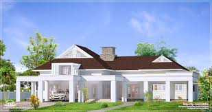 Kerala Home Design Floor Plan And Elevation by Interesting Eco Friendly Houses Single Floor Luxury Bungalow