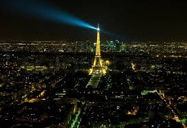 eiffel tower light show paris france september 05 2011 view of eiffel tower during the
