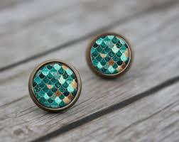 mermaid earrings mermaid earrings etsy