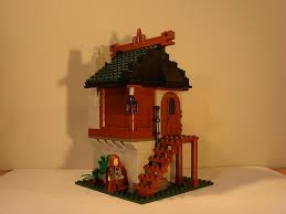 wood lego house moc small wooden house lego historic themes eurobricks forums