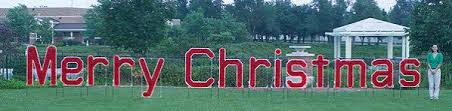 lighted merry sign brighten your yard this season with