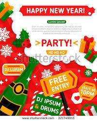 Happy New Year Invitation Merry Christmas Happy New Year Party Stock Vector 321749015