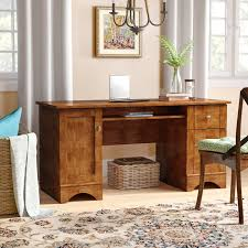 Computer Storage Desk Darby Home Co Isadore Computer Desk With 2 Storage Drawers