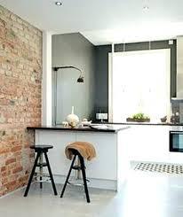 decoration salon cuisine deco mur de cuisine deco mur de brique salon espace cuisine et salon