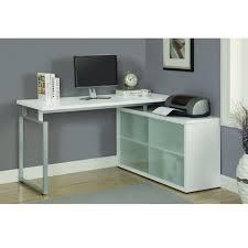 l shaped desk glass desks amazon l shaped desk glass modern l shaped desk with