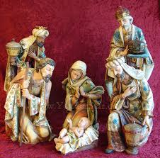 grand resin figurines and size nativity size