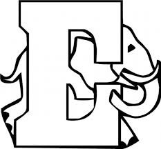 letter e coloring pages to download and print for free with the