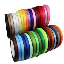 ribbon wholesale 10 rolls lot 25yards roll 6mm single satin ribbon