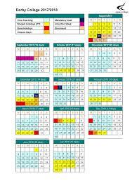 derby college term dates