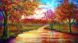 vibrant wallpaper trees september rivers vibrant colors wallpaper allwallpaper in
