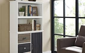 cross island desk w storage bookcase amazing bookcases with file drawers ashley furniture