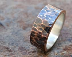 cool mens wedding rings bronze wedding ring mens wedding band cool mens ring bronze