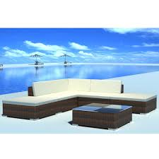 Good Rattan Specification Outdoor Patio Rattan Wicker Furniture Set Lounge Sofa Stool Table