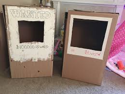 diy photo booth frame polaroid toddler photo booth