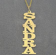 vertical name necklace personalized gold any vertical name pendant necklace